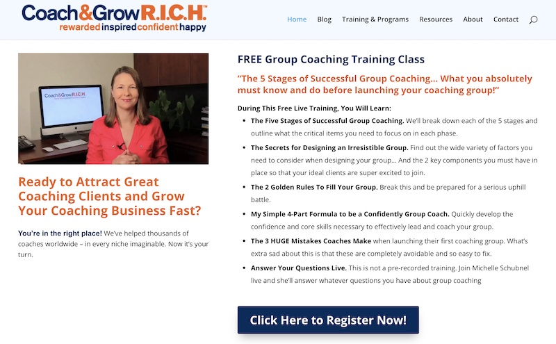 coach and grow rich affiliate program
