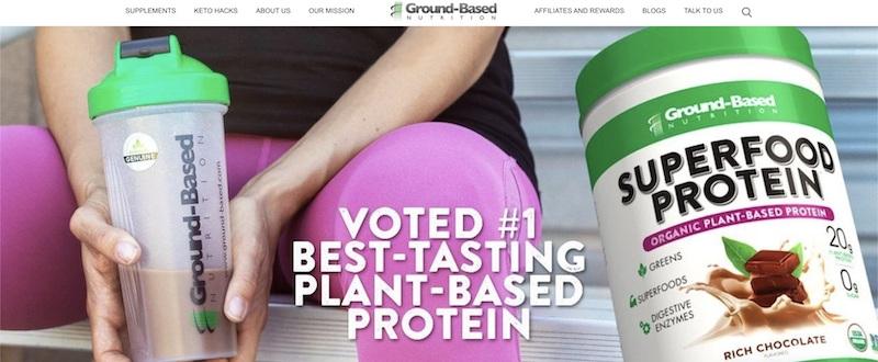 ground based vegan protein shake affiliate program