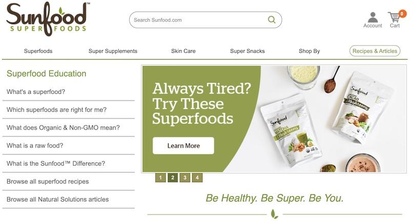 sunfood affiliate programs