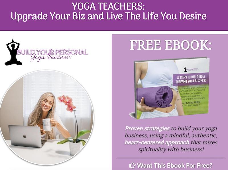 build your yoga business affiliate program