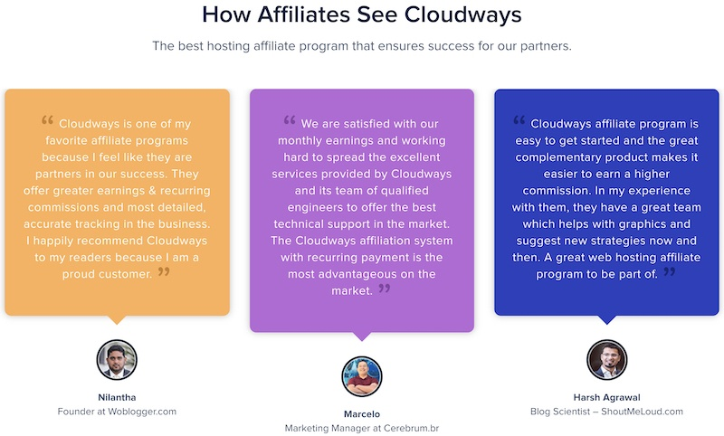 what cloudways affiliate are saying