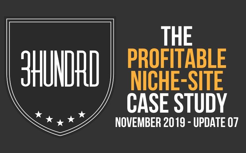 the profitable niche site case study update 7