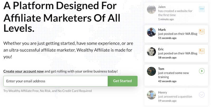 Join Wealthy Affiliate For Mentorship
