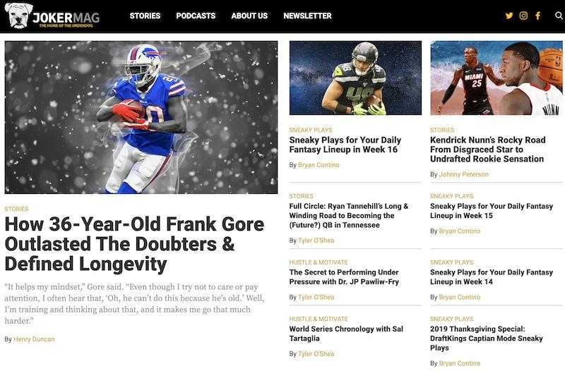 Joker Mag Inspiring Underdog Stories in Sports