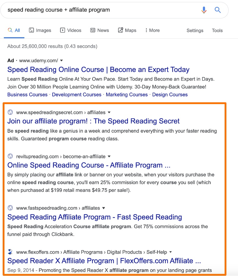 how to find courses to review