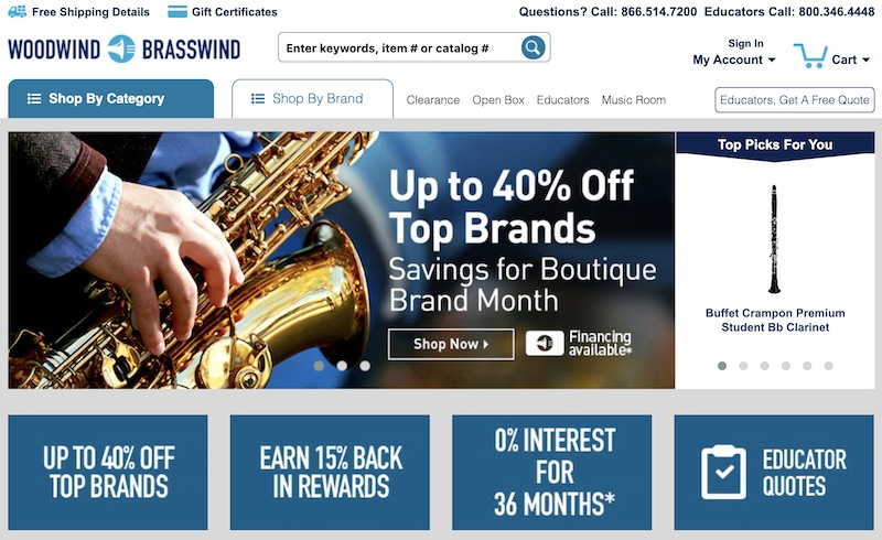 Woodwind & Brasswind affiliate program
