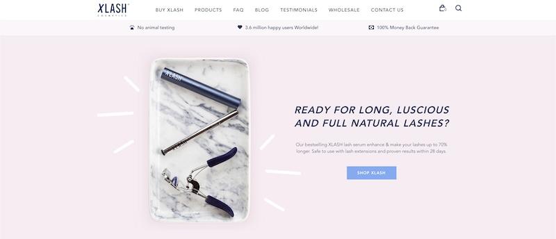 XLASH Cosmetics affiliate program