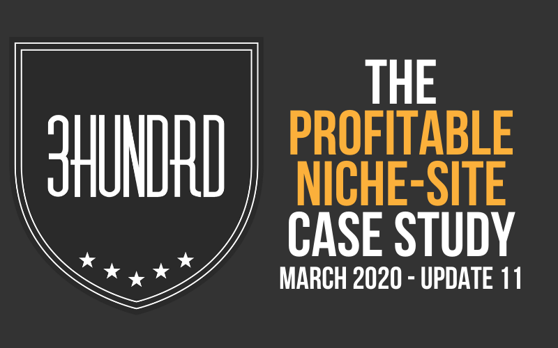 profitable niche site case study march 2020