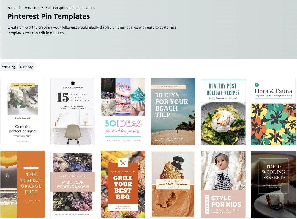 the best canva pinterest templates to use