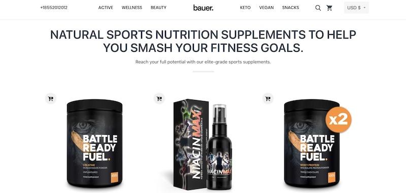 Bauer Nutrition affiliate program