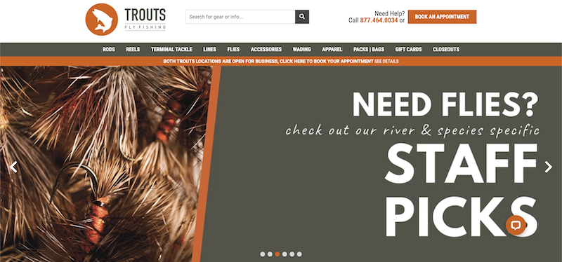 Trouts Fly Fishing affiliate program