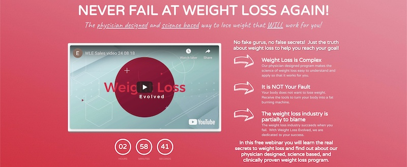 Weight Loss Evolved affiliate program
