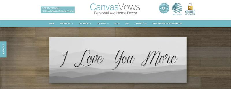 canvas vows affiliate program