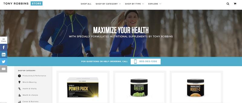 tony robbins weight loss affiliate program