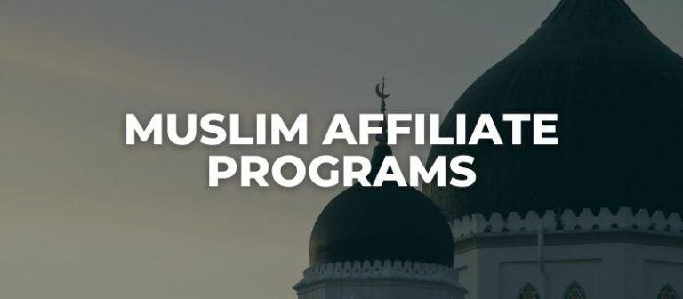 muslim affiliate programs